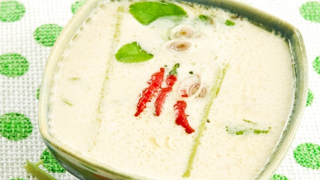 Tom Kha kokus suppe