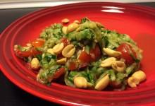 Stærk thailansk salat med agurk